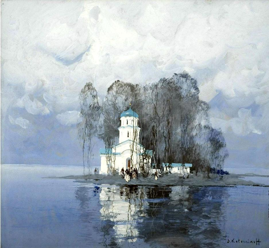 Колесников С. Ф., Церковь зимой, 1937 год